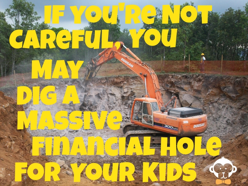Paying For College If You're Not Careful You Can Dig Massive Financial Holes For Your Kids