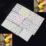 11 PIÈCES COLORÉ beauté plume Stickers à l'eau water transfer nail art manucure