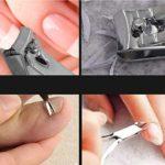 Wandskllss Manucure Kit 7 en 1 Soins des ongles Clipper Kits manucure pédicure (Les coupe-ongles plat, Oblique Nail Nipper, Double Pick, Sourcils ciseaux, pince à épiler Sourcils, Ear Pick, Double Sid