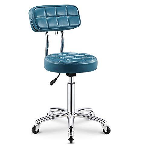 WH-IOE Tabouret de Salon Beauté Tabouret Barber Shop Manucure Coiffure Rouleau Travail Rotary Lift Maître Président Salon de beauté des Cheveux (Color : Sky Blue, Size : One Size)