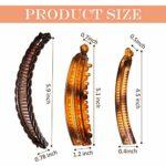 9 Pièces Set de Pinces de Cheveux à Banane, Peignes Pinces Clip de Peignes à Banane Clips de Queue de Poisson Pince Longue de Queue de Cheval de Tenue Forte Peigne Épingle de Cheveux à Banane