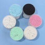 Bdesign Coton écouvillon Double tête bébé Coton Bourgeons Nettoyage des Oreilles cosmétiques Soins de santé Maquillage Outil Remover (2 boîtes) (Color : White)