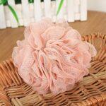, vente en gros éponge de bain exfoliant Loofahs, boule de douche de pouf, 60 grammes chacune, qualité or, YH001, YH001-Khaki