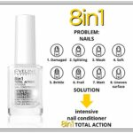 Eveline Cosmetics Baume à Ongles 8W1 Silver 12 ml