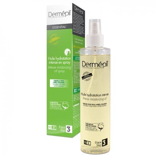Huile hydratation intense pré et post épilation DERMEPIL, spray 250ml