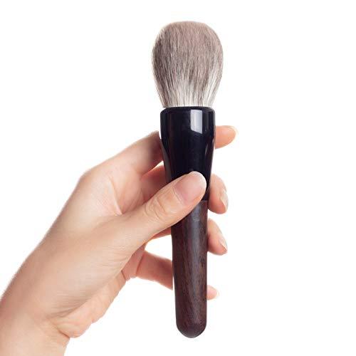 □ Soft □ Maquillage main professionnelle Brosses Fox doux ronde cheveux visage Pinceau Poudre d'ébène Outils cosmétiques poignée Make Up Brush haute qualité