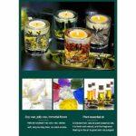 ZXJ Bougies parfumées, Cire de soja sans fumée, Cadeaux d'aromathérapie de Grande Taille pour la Saint-Valentin, Yoga de Bain de la fête des mères d'anniversaire,Vert