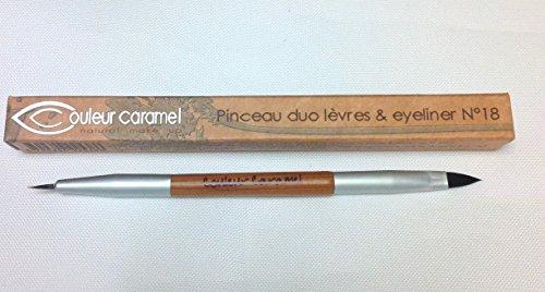 Couleur Caramel – Pinceau Duo Lèvres et Eyeliner n°18