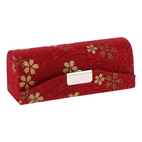 Lurrose Étui à Rouge à Lèvres pour Sac à Main Organisateur de Sac à Rouge à Lèvres Imprimé Floral avec Miroir pour Voyage de Maquillage (Rouge)