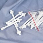 SOLUSTRE 40 Pcs Nez Cire Applicateur Bâtons pour Narine Nasal Nettoyage Oreille Poils Visage Sourcils Épilation