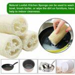 beihuazi® loofah naturel Luffa Eponge 10cm Length de Eponge Loofah pour Bain Douche, Savons diy et Cuisine Nettoyage 6pcs