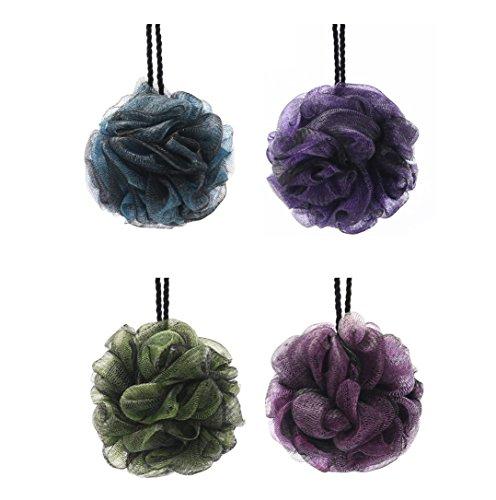 Fleur de Massage Fleurs de bain Grand éponge pour bain de douche Exfoliante pour baignoire Éponge pour homme et femme – Coloris aléatoire (4pack)