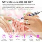 HAPAW Lime a Ongle Electrique, 11 en 1 Ponceuse Ongles Gel Professionnel Ongles Manucure Machine 20000RPM Puissante, Sécurité Manucure Electrique Ongles avec Coupe Ongle 3PCS limes à ongles
