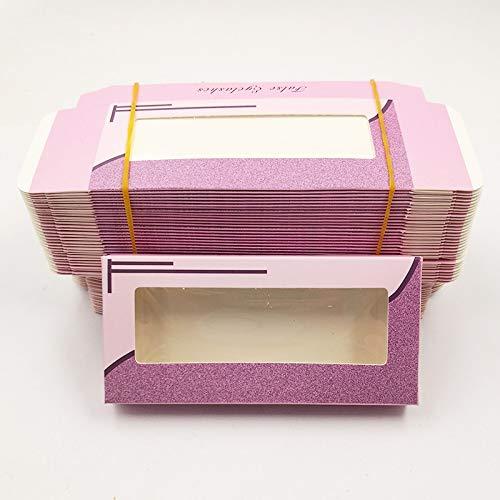 HLWJ Coups de Fouet holographiques boîte 20/50/100 / 200pcs Cils en Papier Doux Emballage for Faux Cils (Color : C, Size : 200box)