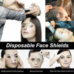 Kalolary 100 Pièces Boucliers de Douche Transparent Hairspray Shield Masques Faciaux pour la Coupe de Cheveux