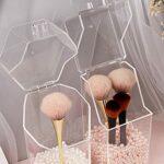 Yixikejiyouxian Porte-Pinceau de Maquillage Acrylique Organisateur de Maquillage Porte-cosmétiques Conteneur de Stockage de Rouge à lèvres Porte-boîte de Rangement Transparent – Transparent