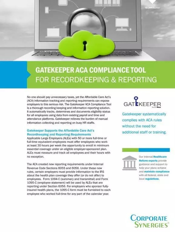 Employee Benefits Compliance Information Reporting Tool