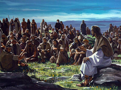 Resultado de imagem para imagem de jesus ensinando a multidão em site católico