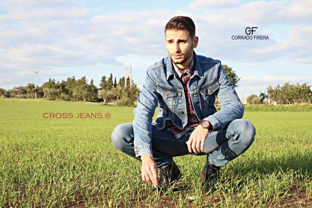 corrado firera, cross jeans, denim jacket