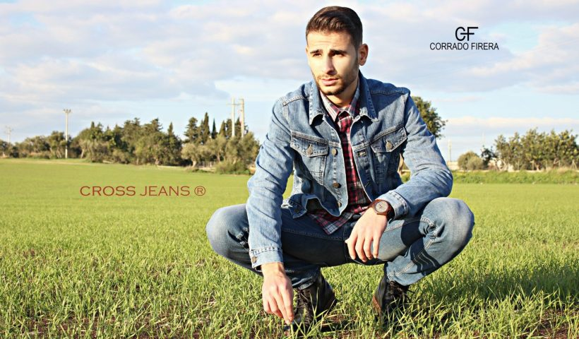 corrado firera, cross jeans, denim jacket