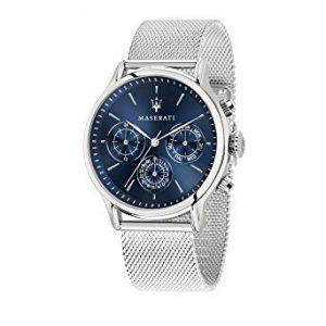MASERATI Orologio Multi-quadrante Quarzo Uomo con Cinturino in Acciaio Inox R8853118013, orologi maserati uomo