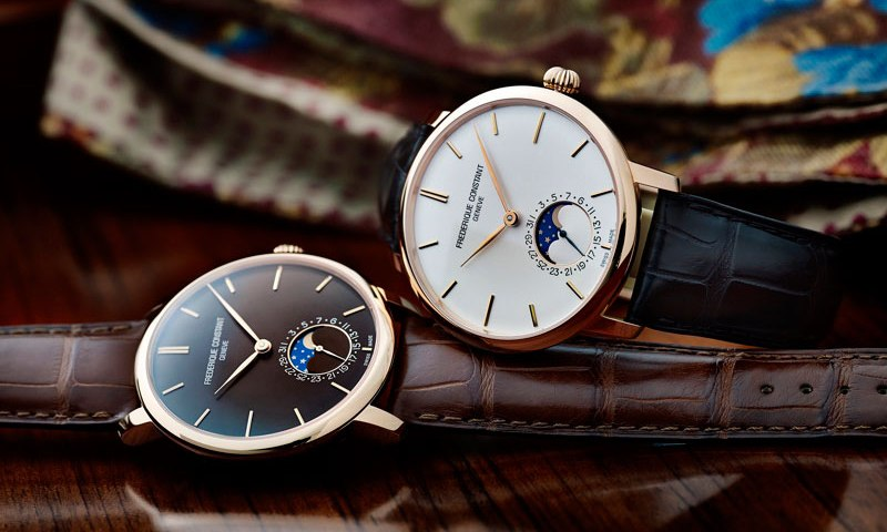 orologi svizzeri, frederique constant, moonphase, swiss watches