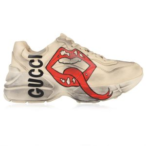 "GUCCI ""RHYTON LIPS"" IN PELLE 50MM - gucci shoes high top"