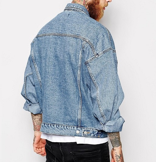 Oversize denim jacket, 90s fashion