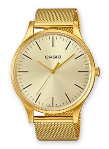 Casio Men's Analog Watch with Stainless Steel Strap LTP-E140G-9AEF