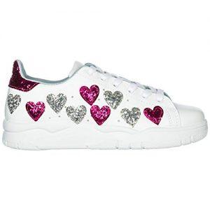 Chiara Ferragni Sneakers White Hearts FX/Silver 3 CF2070-A Nuova Collezione A/I 2018-19