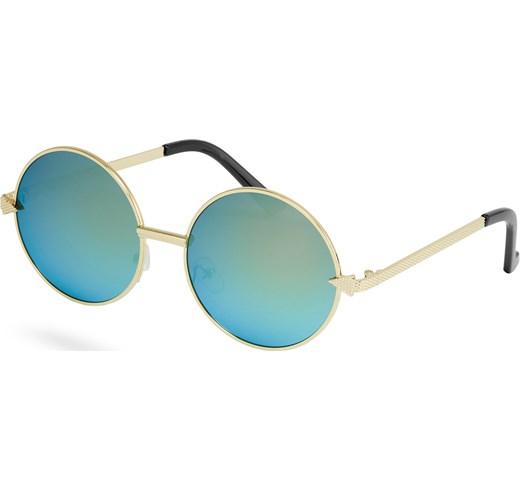occhialia con lenti rotonde, moda anni 90