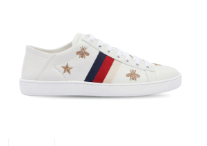 "GUCCI SNEAKERS ""NEW ACE"" IN PELLE CON RICAMI"