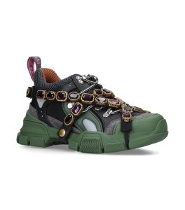 "gucci shoes women - ""FLASHTREK"" VERDI"