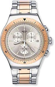 Swatch Orologio Digitale Quarzo Uomo con Cinturino in Acciaio Inox YOS452G
