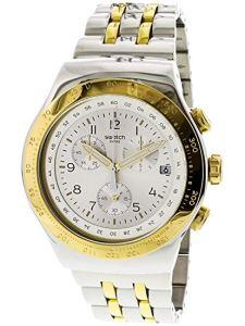 Swatch Orologio Cronografo Quarzo Uomo con Cinturino in Acciaio Inox YOS458G