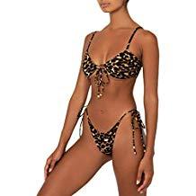 Sunnyuk Costumi da Bagno Donna Leopardo Ragazza Due Pezzi Brasiliana Sexy Bikini Caldo Donna Mare Push up Perizoma Bikini Donna Mare Calzedonia Push up Bikini
