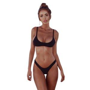NIUQY Bikini da Bagno Donna a Triangolo,Femminile Costumi Costumi Due Pezzi Capestro Bendare Bikini Mare Spiaggia Estate