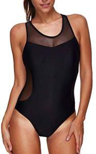 Bettydom Donna Swimwear Un Pezzo Costumi da Bagno di Colore Nero Cinque Colori opzionali
