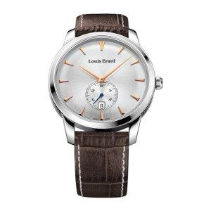 Louis Erard Men's 42mm Chronograph Brown Calfskin Quartz Watch 13900AA11.BDC101, orologi uomo eleganti