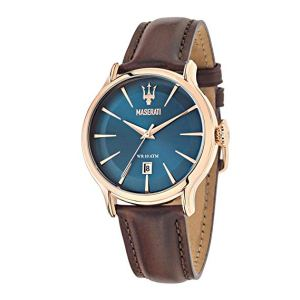 Maserati Man R8851118001, Orologio da polso Uomo, Blu (Blu/Marrone), orologi uomo eleganti