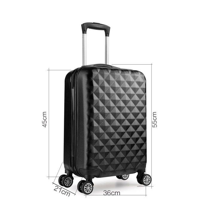 Trolley valigia 55cm bagaglio a mano ABS 40L 2.4kg super leggera con ruote, valigie da viaggio