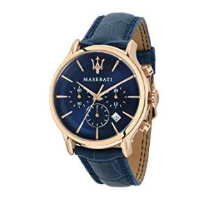 Orologio da uomo, Collezione Epoca, movimento al quarzo, cronografo, in acciaio, PVD oro rosa e cuoio - R8871618007