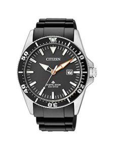 Citizen Orologio Analogico Quarzo Uomo con Cinturino in plastica BN0100-42E, orologi subacquei