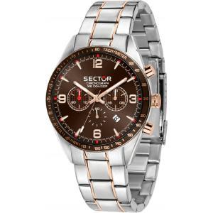 Sector No Limits Orologio da uomo, Collezione 770, movimento al quarzo, con cronografo, in acciaio e PVD oro rosa - R3273616002