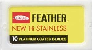 Feather - Lame a doppio filo in acciaio per rasoio di sicurezza, confezione da 30 pezzi, lamette da barba migliori