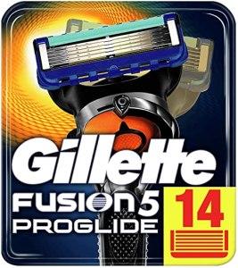 Gillette Fusion5 ProGlide Lamette di Ricambio per Rasoio, 14 Lamette da barba