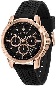 Maserati Orologio da uomo, Collezione Successo, in Acciaio, PVD Oro Rosa, Silicone, con cinturino in Silicone - R8871621012