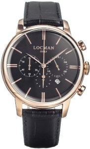 Locman cronografo Acciaio Nero