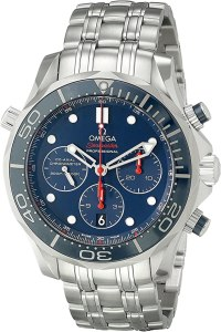 Omega 21230445003001 Diver 300 M Co-Axial Chronograph Sliver Watch, orologi omega