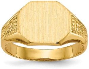 Diamond2Deal - Anello da uomo in oro giallo 14 ct, con sigillo , anelli uomo